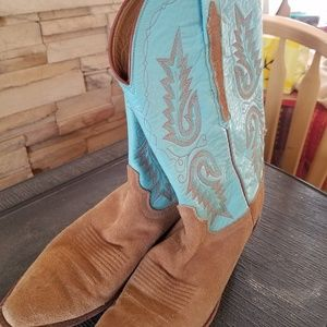 Beautiful butterfly cowboy boots